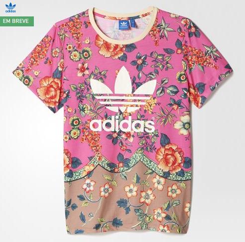 camiseta rosa adidas farm