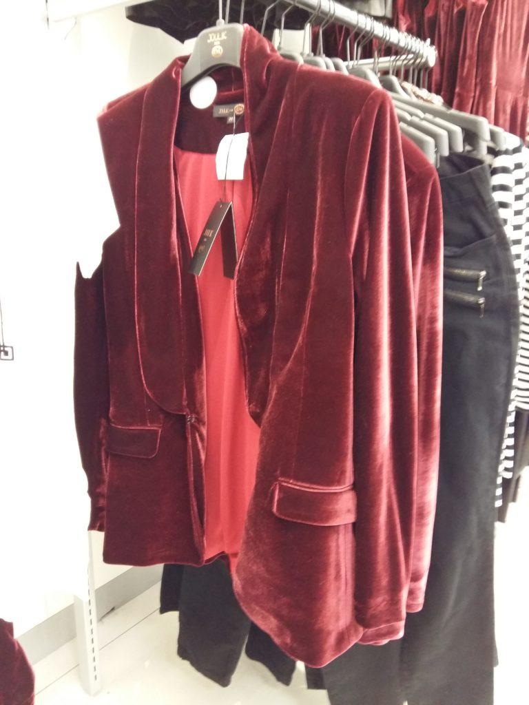 blazer veludo vermelho
